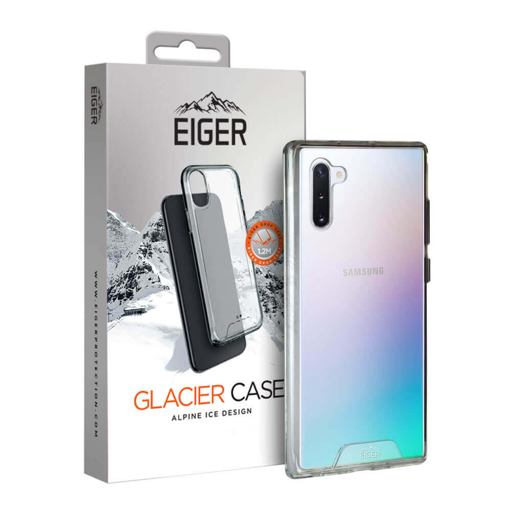 Eiger Glacier Case — удароустойчив хибриден кейс за Samsung Galaxy Note 10 (прозрачен) - 1