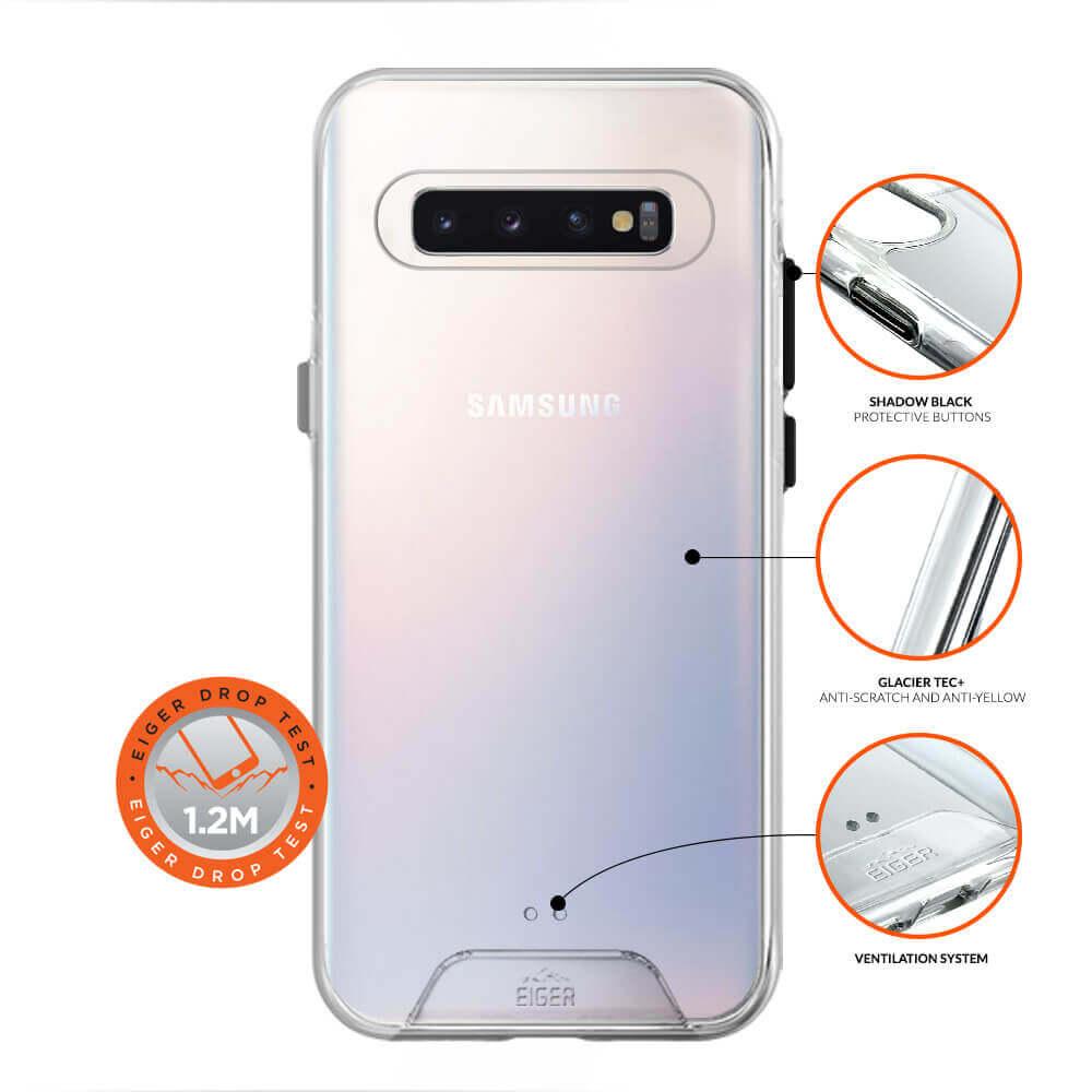 Eiger Glacier Case — удароустойчив хибриден кейс за Samsung Galaxy S10 (прозрачен) - 2