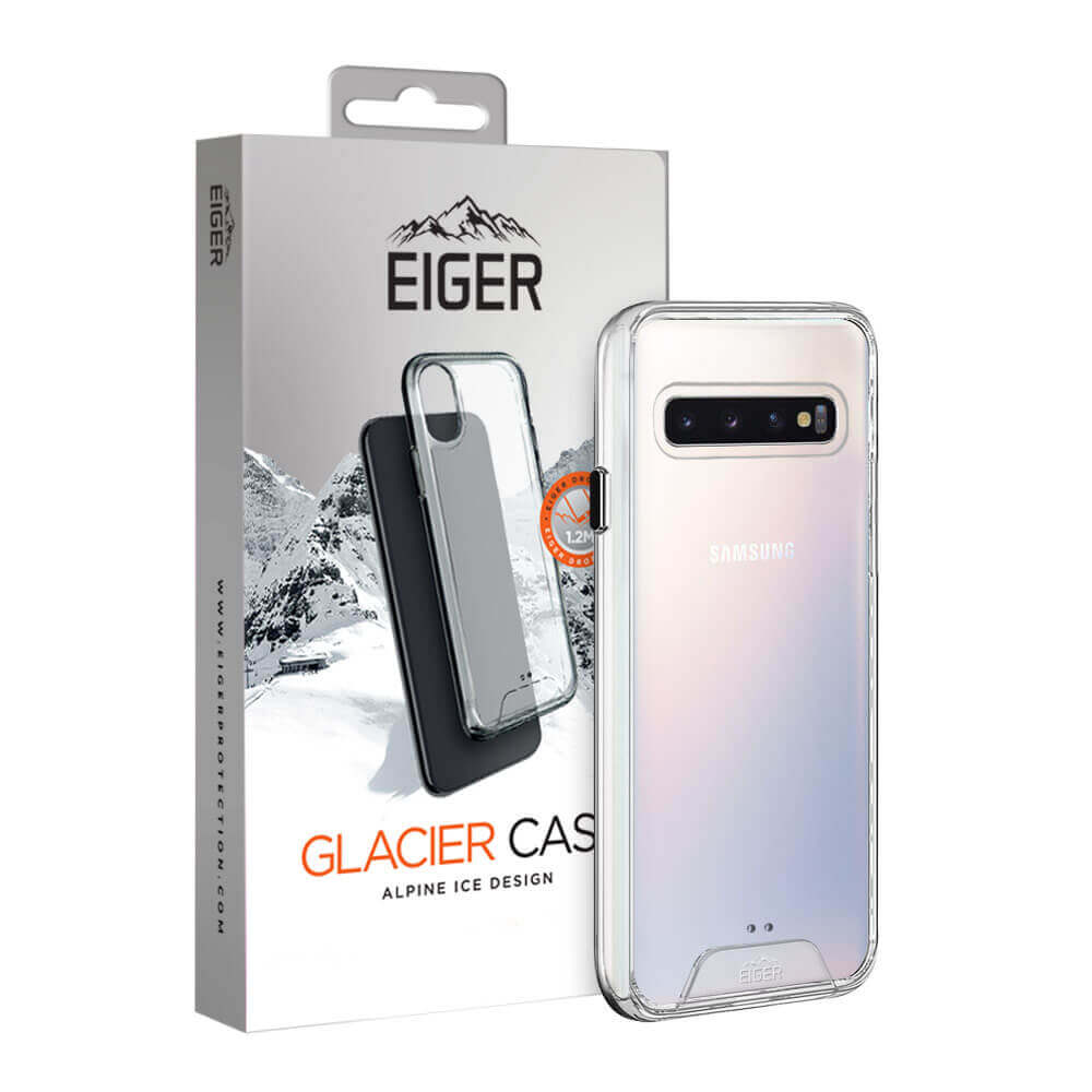 Eiger Glacier Case — удароустойчив хибриден кейс за Samsung Galaxy S10 (прозрачен) - 1