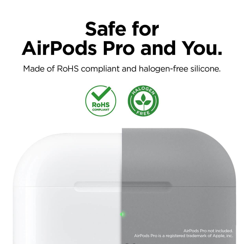 Elago Airpods Original Basic Silicone Case — силиконов калъф за Apple Airpods Pro (светлосив) - 2