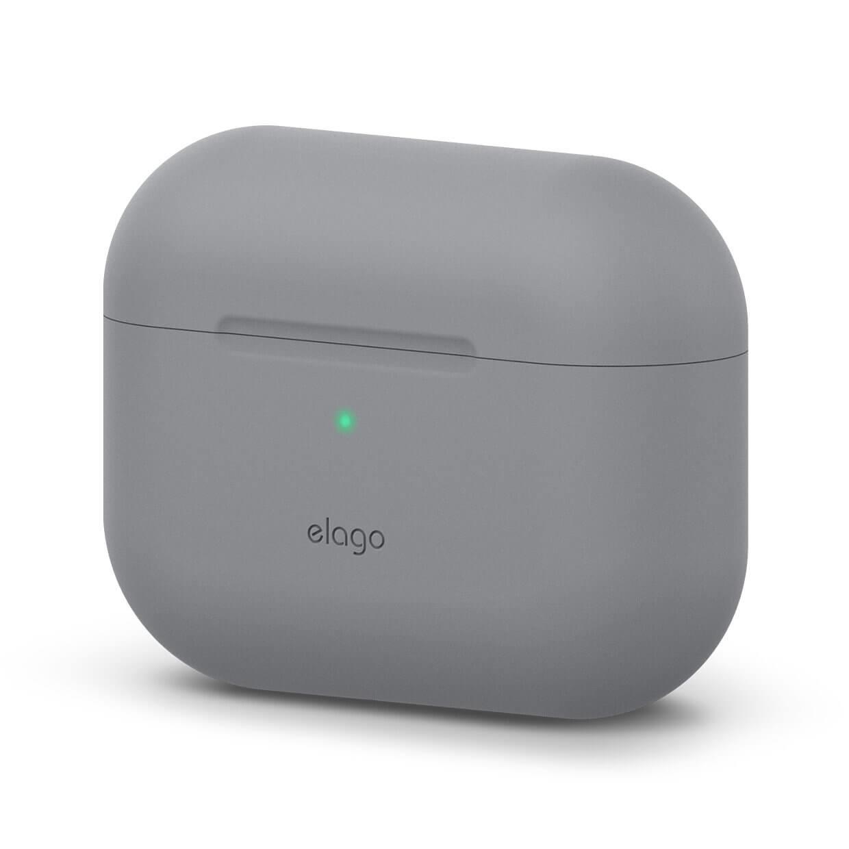 Elago Airpods Original Basic Silicone Case — силиконов калъф за Apple Airpods Pro (светлосив) - 1