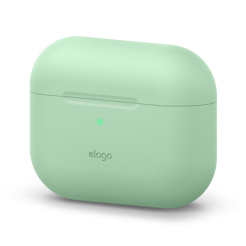 Elago Airpods Original Basic Silicone Case — силиконов калъф за Apple Airpods Pro (светлозелен) - 1
