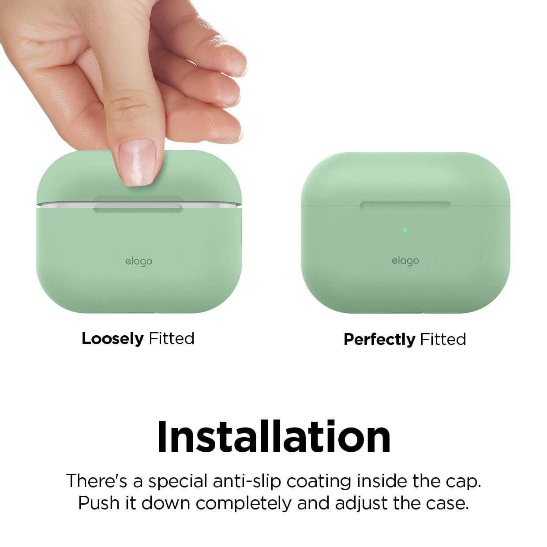 Elago Airpods Original Basic Silicone Case — силиконов калъф за Apple Airpods Pro (светлозелен) - 3