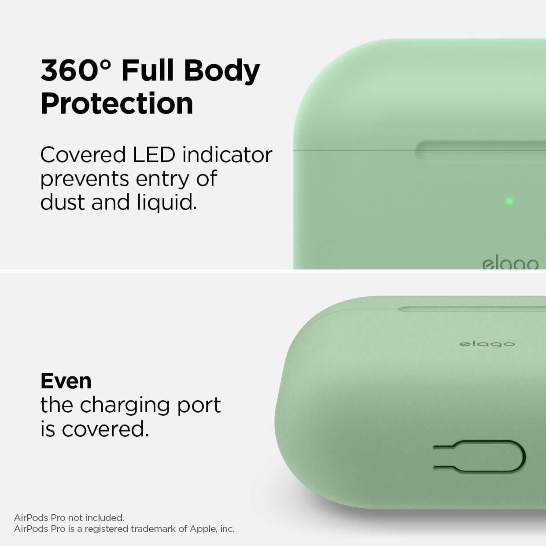 Elago Airpods Original Basic Silicone Case — силиконов калъф за Apple Airpods Pro (светлозелен) - 2