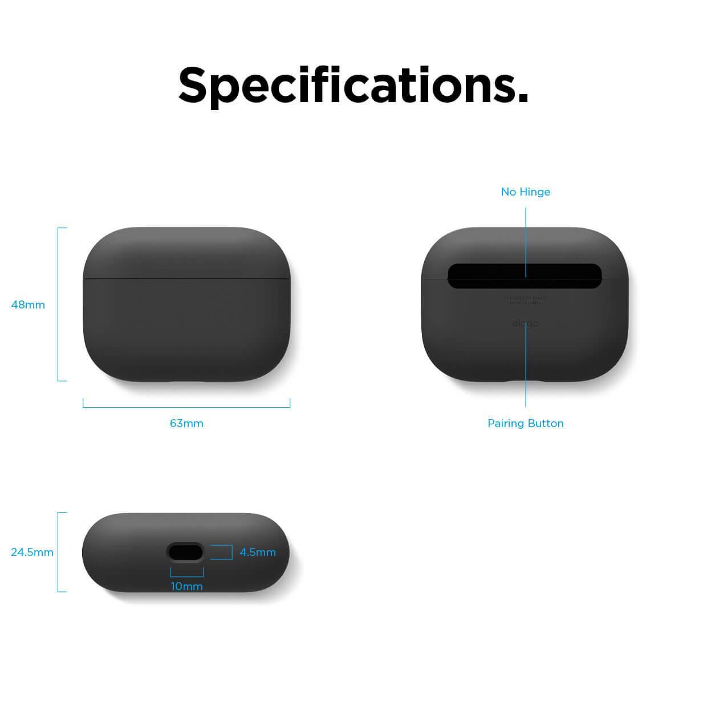 Elago Airpods Pro Liquid Hybrid Case — твърд силиконов кейс за Apple Airpods Pro (черен) - 5