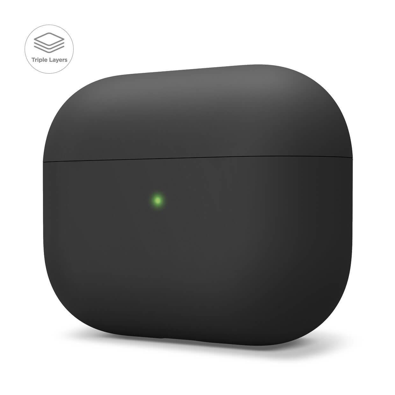 Elago Airpods Pro Liquid Hybrid Case — твърд силиконов кейс за Apple Airpods Pro (черен) - 1