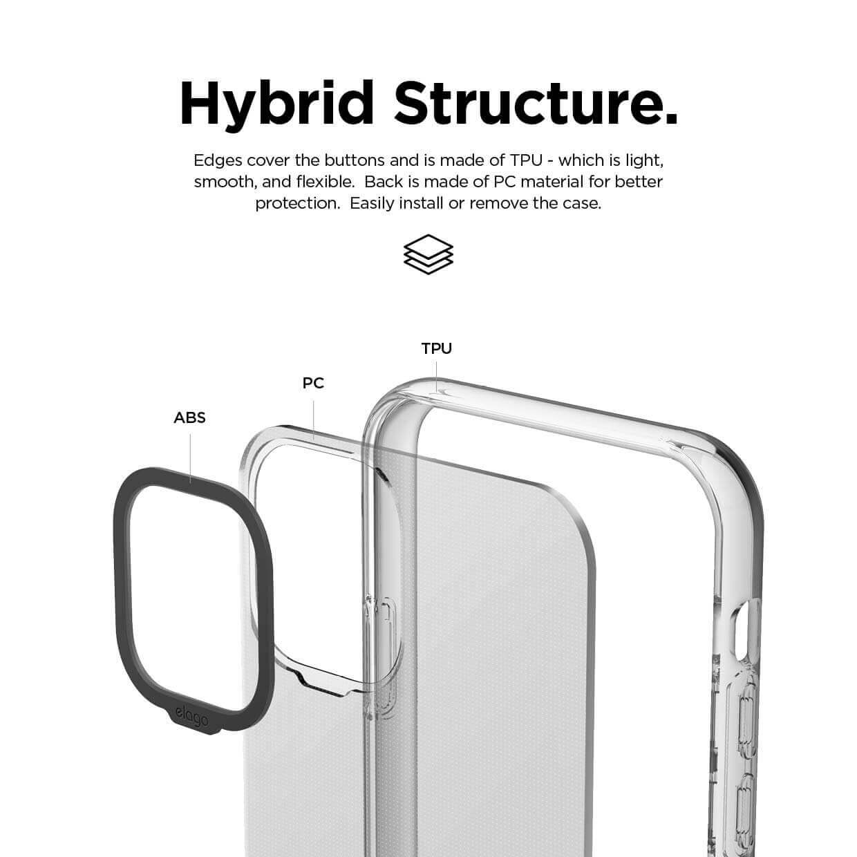 Elago Hybrid Case — хибриден удароустойчив кейс за iPhone 11 Pro Max (прозрачен) - 2