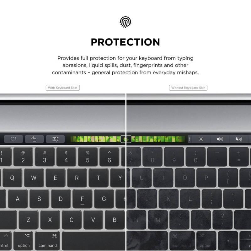 Elago Keyboard Skin — силиконов протектор за клавиатурата на MacBook Pro with Touch Bar (прозрачен-мат) - 4
