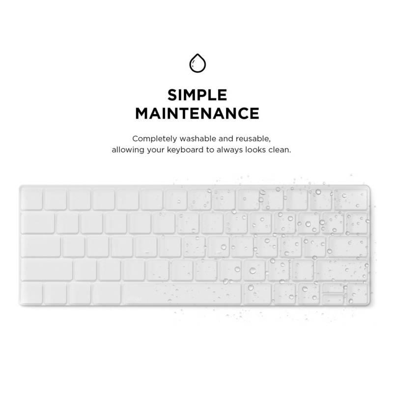 Elago Keyboard Skin — силиконов протектор за клавиатурата на MacBook Pro with Touch Bar (прозрачен-мат) - 3