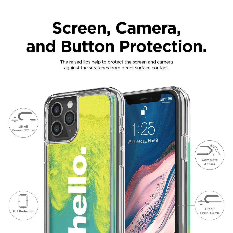 Elago Sand Case Hello — дизайнерски кейс с висока защита за iPhone 11 Pro Max (зелен) - 2