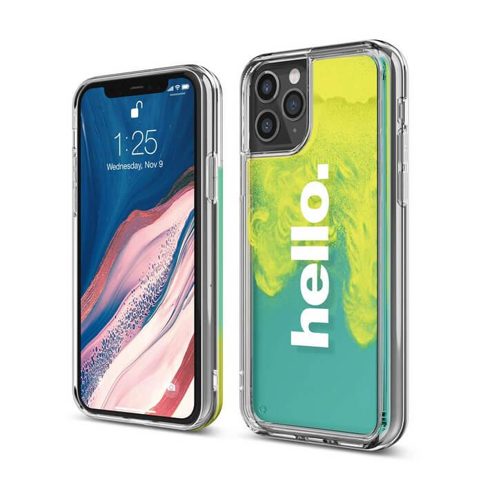 Elago Sand Case Hello — дизайнерски кейс с висока защита за iPhone 11 Pro Max (зелен) - 1