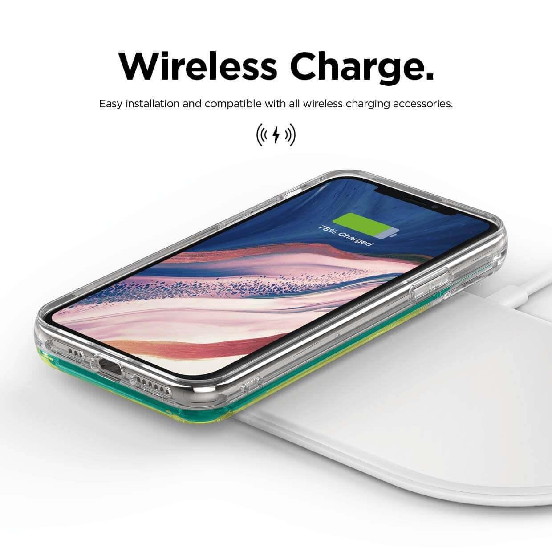 Elago Sand Case Hello — дизайнерски кейс с висока защита за iPhone 11 Pro Max (зелен) - 5