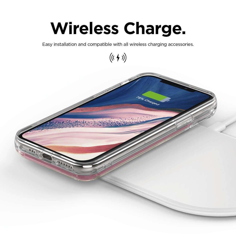 Elago Sand Case Nice — дизайнерски кейс с висока защита за iPhone 11 Pro (розов) - 4