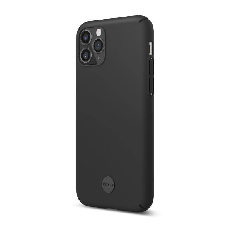 Elago Slim Fit Strap Case — качествен поликарбонатов кейс с каишка за китката за iPhone 11 (черен) - 4