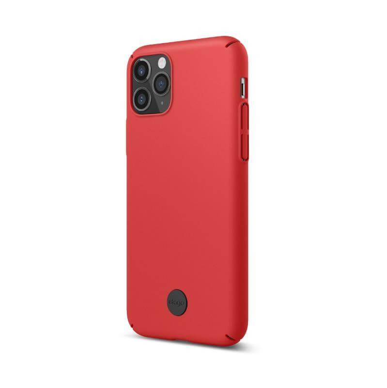 Elago Slim Fit Strap Case — качествен поликарбонатов кейс с каишка за китката за iPhone 11 (червен) - 5