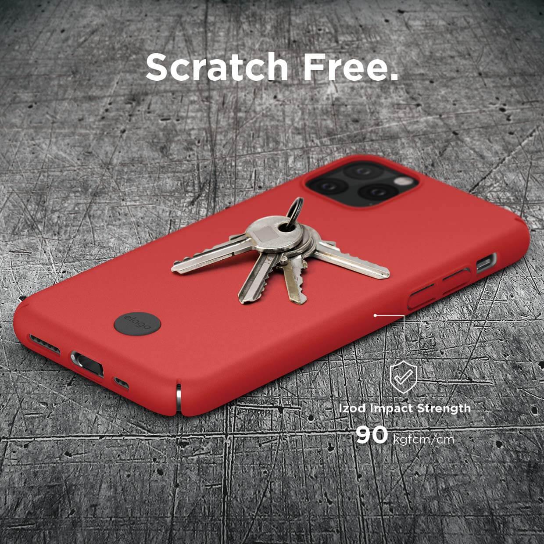 Elago Slim Fit Strap Case — качествен поликарбонатов кейс с каишка за китката за iPhone 11 Pro Max (червен) - 5