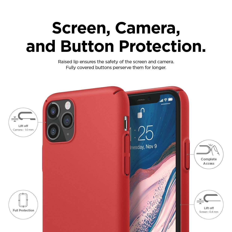 Elago Slim Fit Strap Case — качествен поликарбонатов кейс с каишка за китката за iPhone 11 Pro Max (червен) - 3