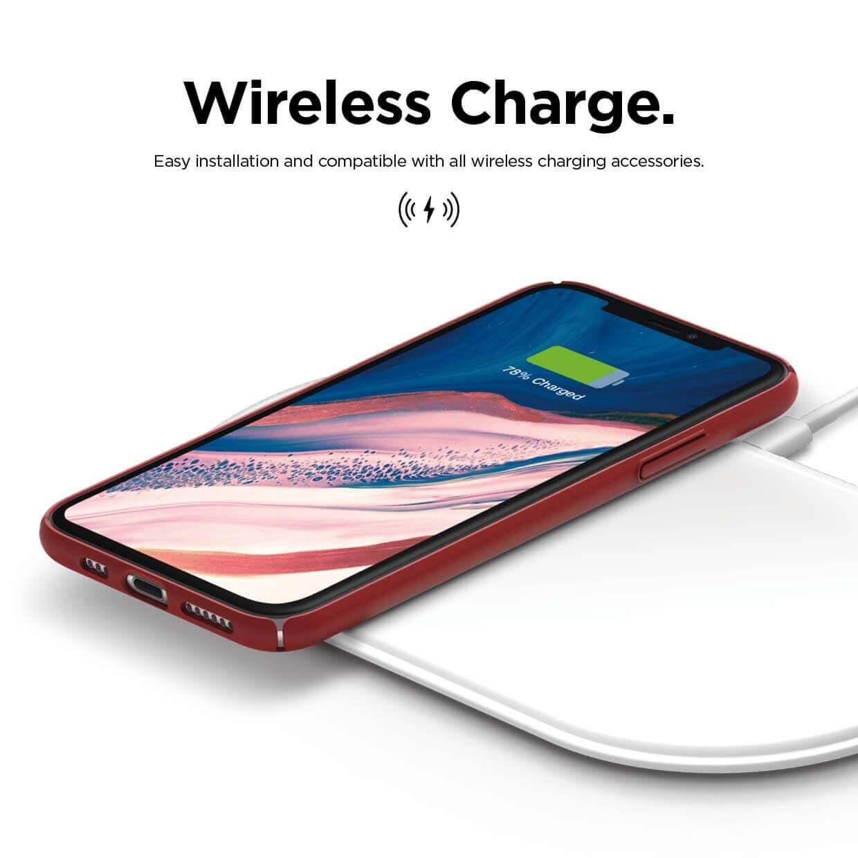 Elago Slim Fit Strap Case — качествен поликарбонатов кейс с каишка за китката за iPhone 11 Pro Max (червен) - 4