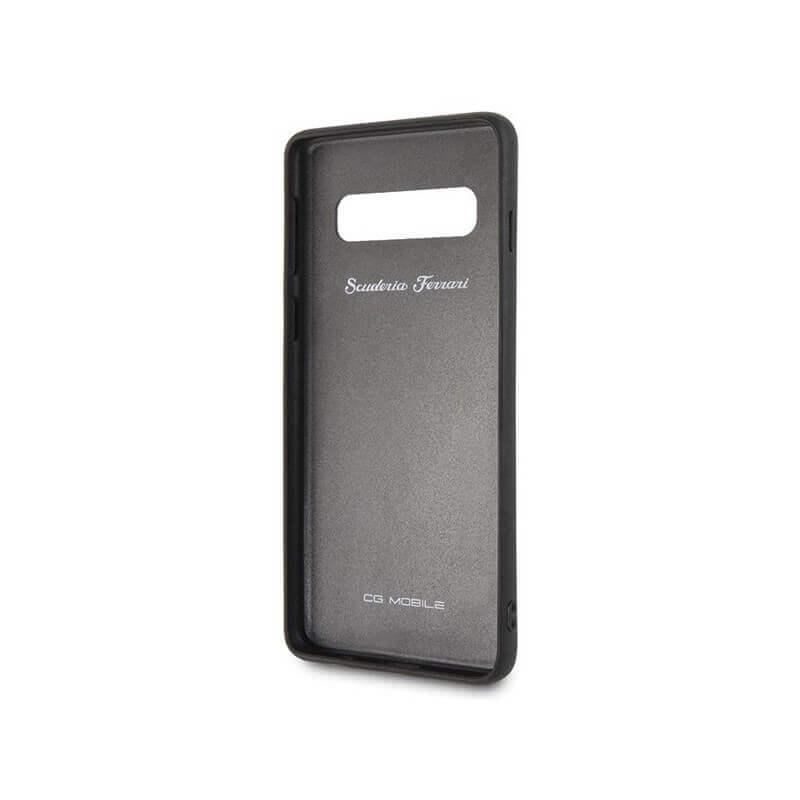 Ferrari Heritage Quilted Leather Hard Case — кожен кейс (естествена кожа) за Samsung Galaxy S10 (черен) - 2