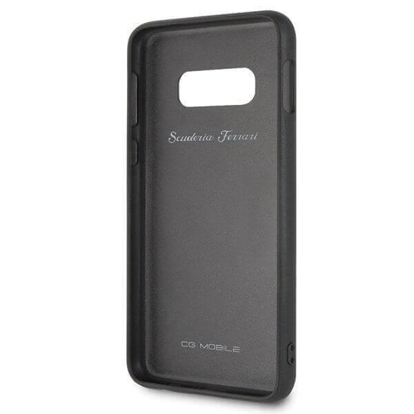 Ferrari Heritage Quilted Leather Hard Case — кожен кейс (естествена кожа) за Samsung Galaxy S10e (черен) - 4