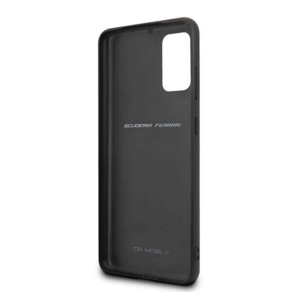 Ferrari Heritage Quilted Leather Hard Case — кожен кейс (естествена кожа) за Samsung Galaxy S20 Plus (черен) - 5