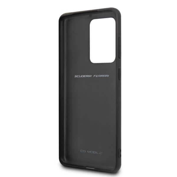 Ferrari Heritage Quilted Leather Hard Case — кожен кейс (естествена кожа) за Samsung Galaxy S20 Ultra (черен) - 4