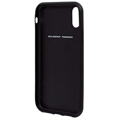Ferrari On Track Grid Hard Case — кожен кейс (естествена кожа) за iPhone XS Max (черен) - 4