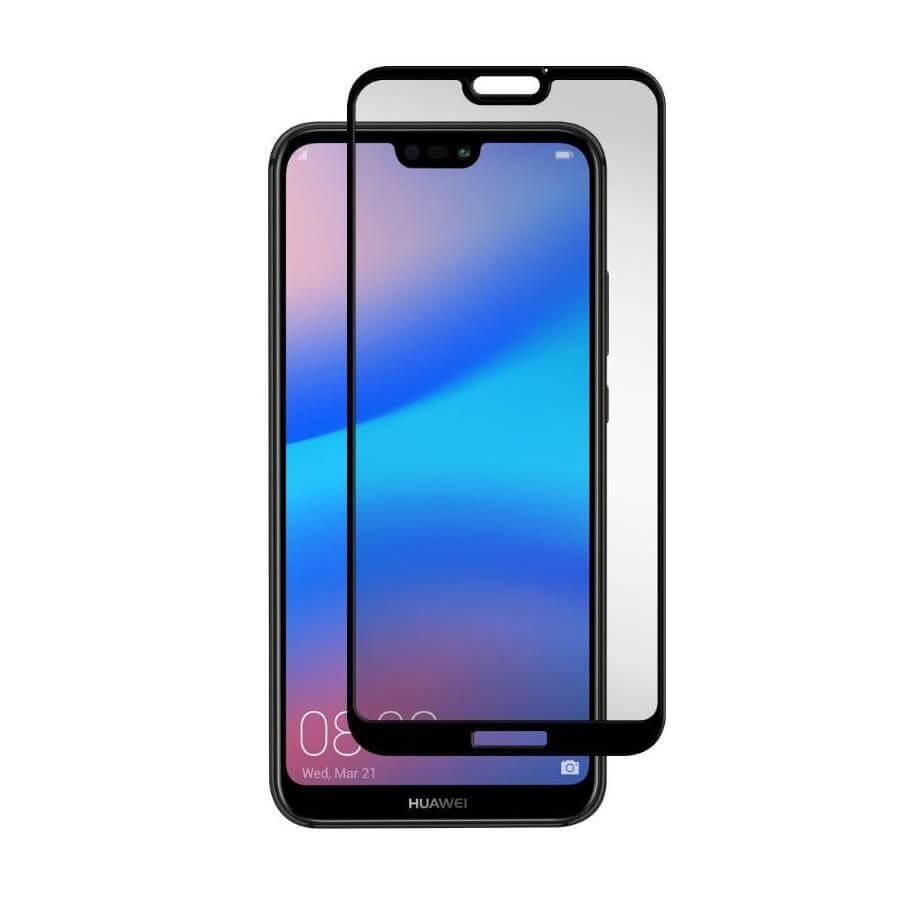 Gadget Guard Tempered Glass Black Ice Edition — калено стъклено защитно покритие за дисплея на Huawei P20 Lite (черен-прозрачен) - 1