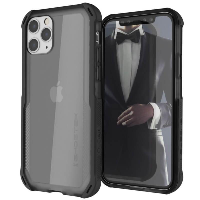 Ghostek Cloak 4 Case  — хибриден удароустойчив кейс за iPhone 11 Pro (прозрачен-черен) - 1