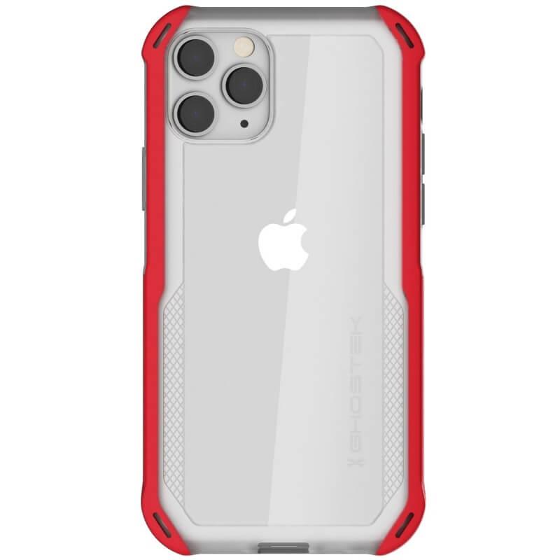 Ghostek Cloak 4 Case  — хибриден удароустойчив кейс за iPhone 11 Pro (прозрачен-червен) - 3