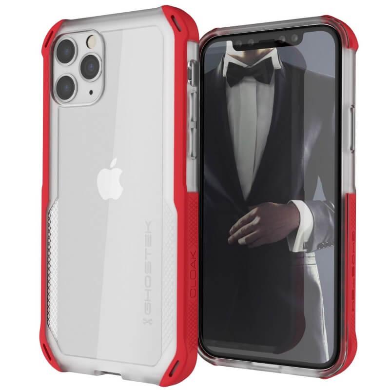 Ghostek Cloak 4 Case  — хибриден удароустойчив кейс за iPhone 11 Pro (прозрачен-червен) - 1