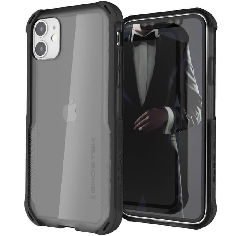 Ghostek Cloak 4 Case  — хибриден удароустойчив кейс за iPhone 11 (прозрачен-черен) - 1