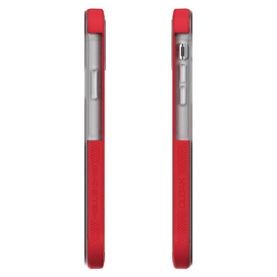 Ghostek Cloak 4 Case  — хибриден удароустойчив кейс за iPhone 11 (прозрачен-червен) - 5