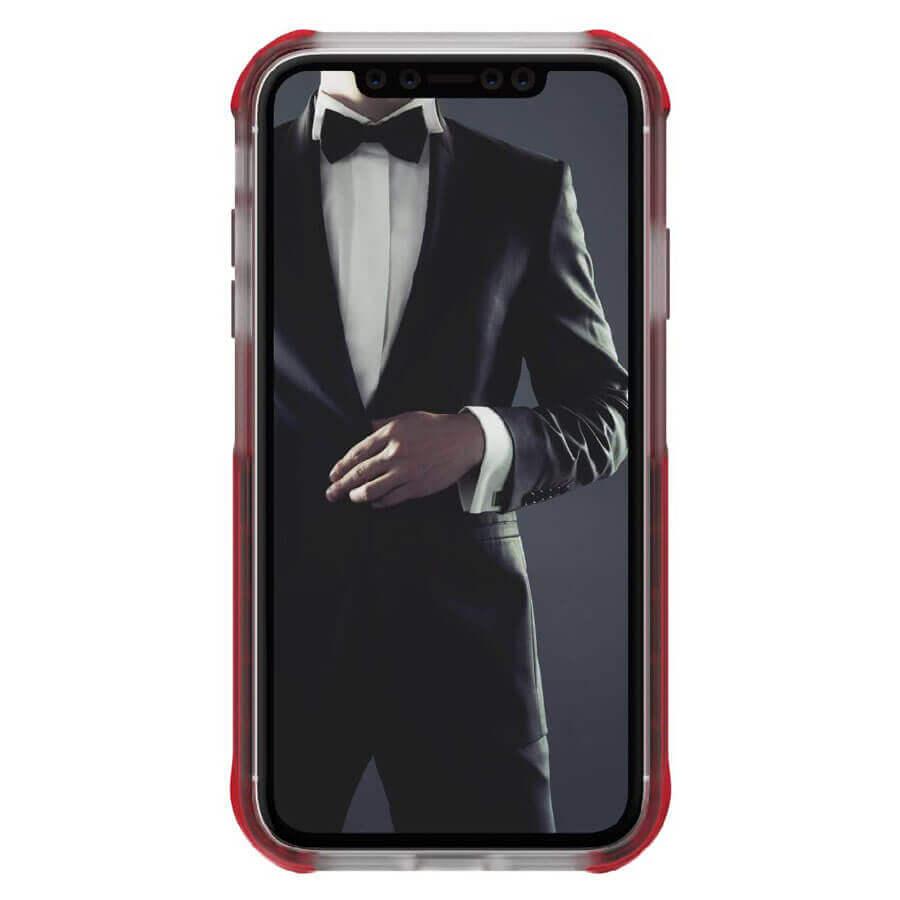Ghostek Cloak 4 Case  — хибриден удароустойчив кейс за iPhone 11 (прозрачен-червен) - 2