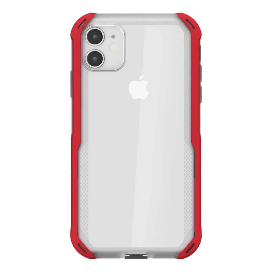 Ghostek Cloak 4 Case  — хибриден удароустойчив кейс за iPhone 11 (прозрачен-червен) - 3