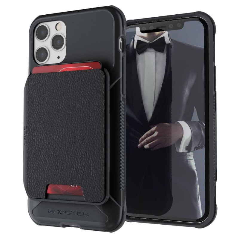 Ghostek Exec 4 Case — удароустойчив кейс с отделение за карти за iPhone 11 Pro (черен) - 1