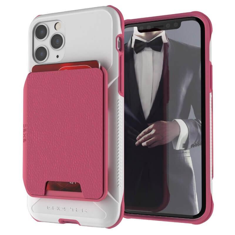 Ghostek Exec 4 Case — удароустойчив кейс с отделение за карти за iPhone 11 Pro Max (розов) - 1