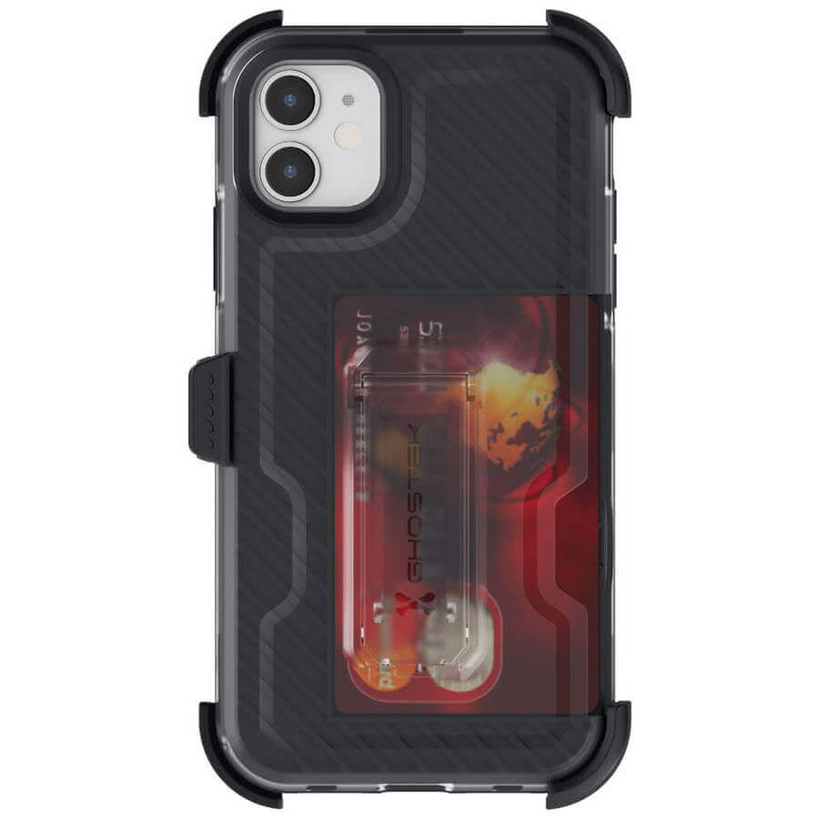 Ghostek Iron Armor 3 — удароустойчив хибриден кейс с щипка и слот за карти за iPhone 11 (черен) - 3