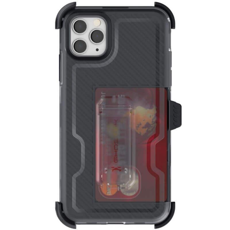 Ghostek Iron Armor 3 — удароустойчив хибриден кейс с щипка и слот за карти за iPhone 11 Pro Max (черен) - 3