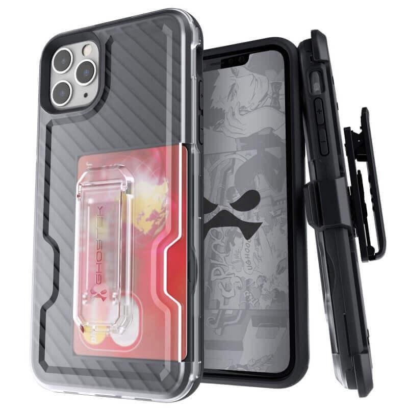 Ghostek Iron Armor 3 — удароустойчив хибриден кейс с щипка и слот за карти за iPhone 11 Pro Max (черен) - 1