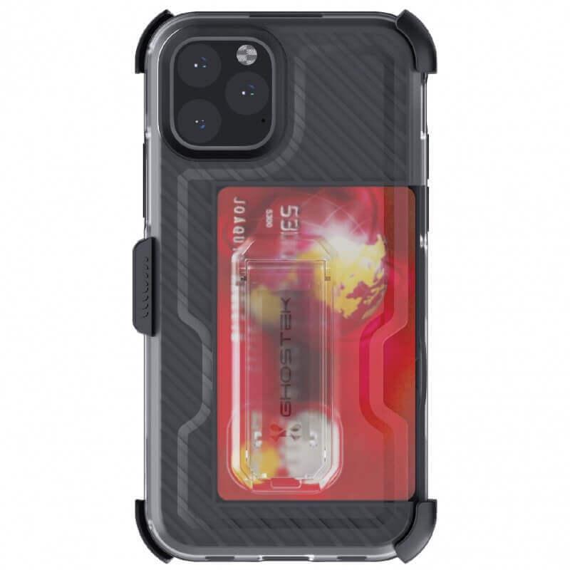 Ghostek Iron Armor 3 — удароустойчив хибриден кейс с щипка и слот за карти за iPhone 11 Pro (син) - 3