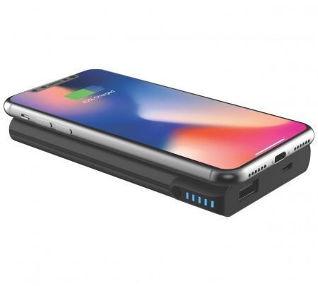 Griffin Reserve Wireless Charging Power Bank 5000 mAh — външна батерия с USB изход и безжично зареждане за мобилни устройства (черен) - 2