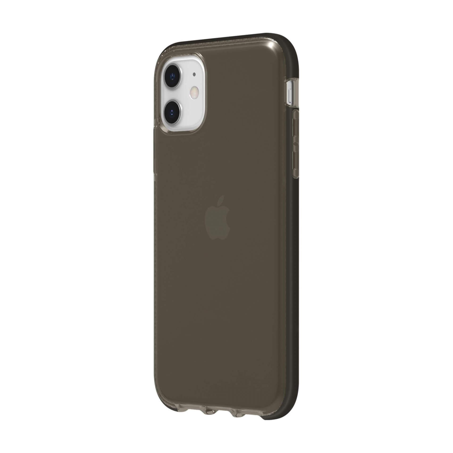 Griffin Survivor Clear Case — хибриден удароустойчив кейс за iPhone 11 (черен) - 2