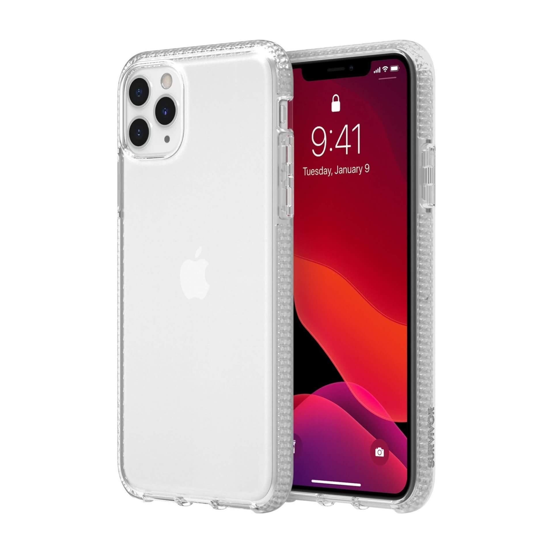 Griffin Survivor Clear Case — хибриден удароустойчив кейс за iPhone 11 Pro (прозрачен) - 4