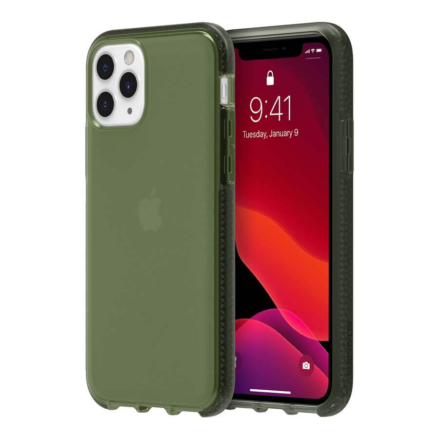 Griffin Survivor Clear Case — хибриден удароустойчив кейс за iPhone 11 Pro (зелен) - 2