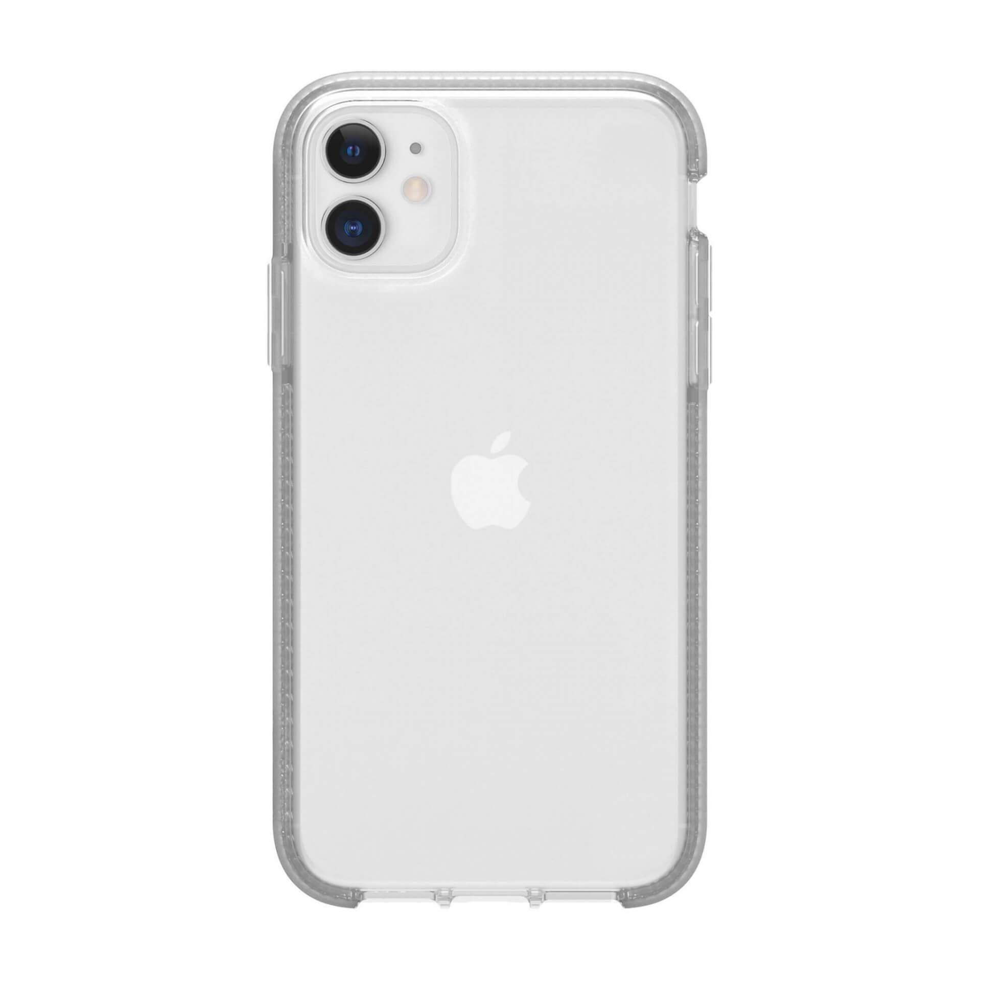Griffin Survivor Clear Case — хибриден удароустойчив кейс за iPhone 11 (прозрачен) - 3