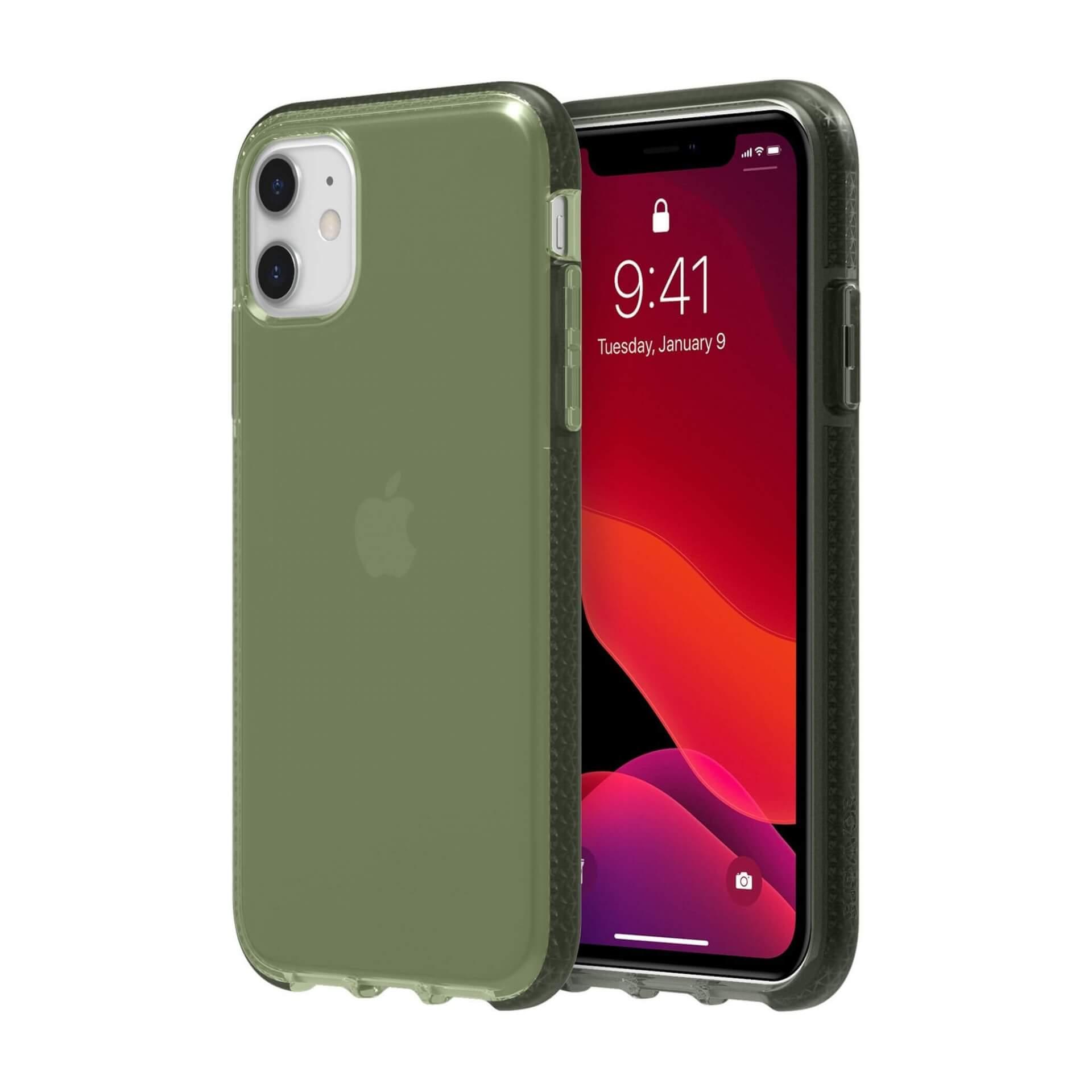 Griffin Survivor Clear Case — хибриден удароустойчив кейс за iPhone 11 (зелен) - 1