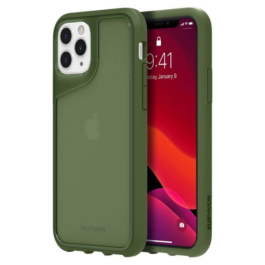 Griffin Survivor Strong — хибриден удароустойчив кейс за iPhone 11 Pro (зелен) - 1