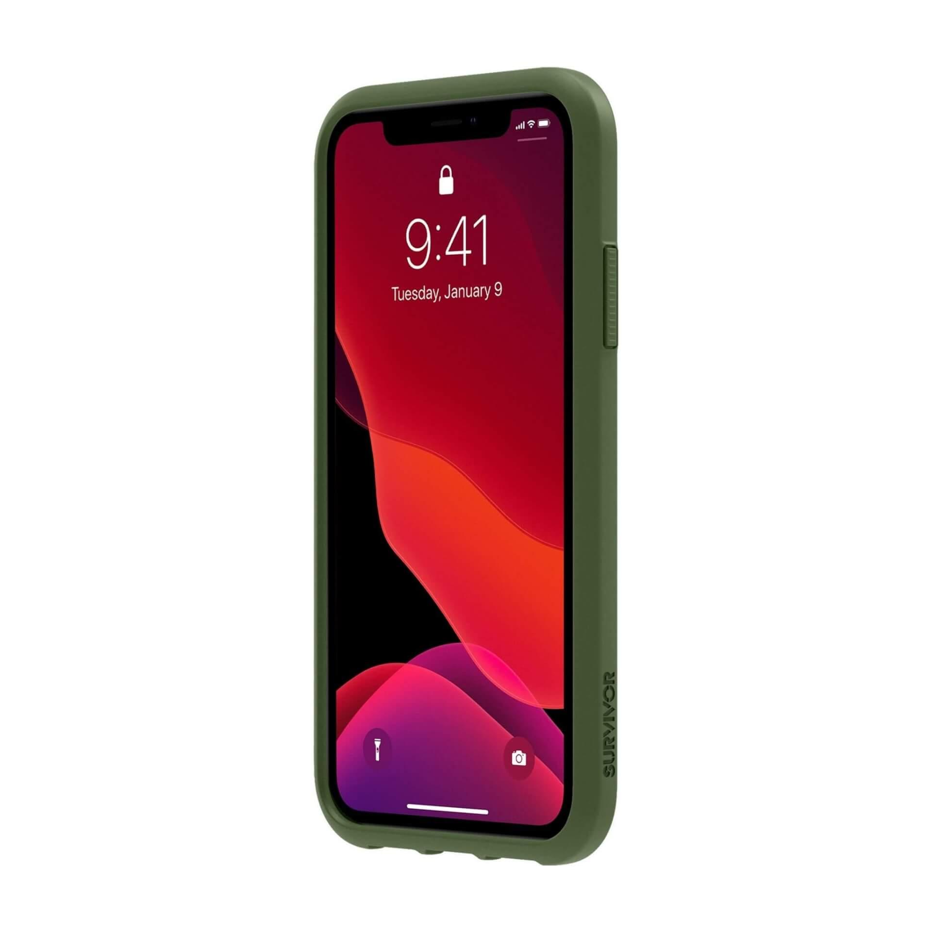 Griffin Survivor Strong — хибриден удароустойчив кейс за iPhone 11 (зелен) - 2