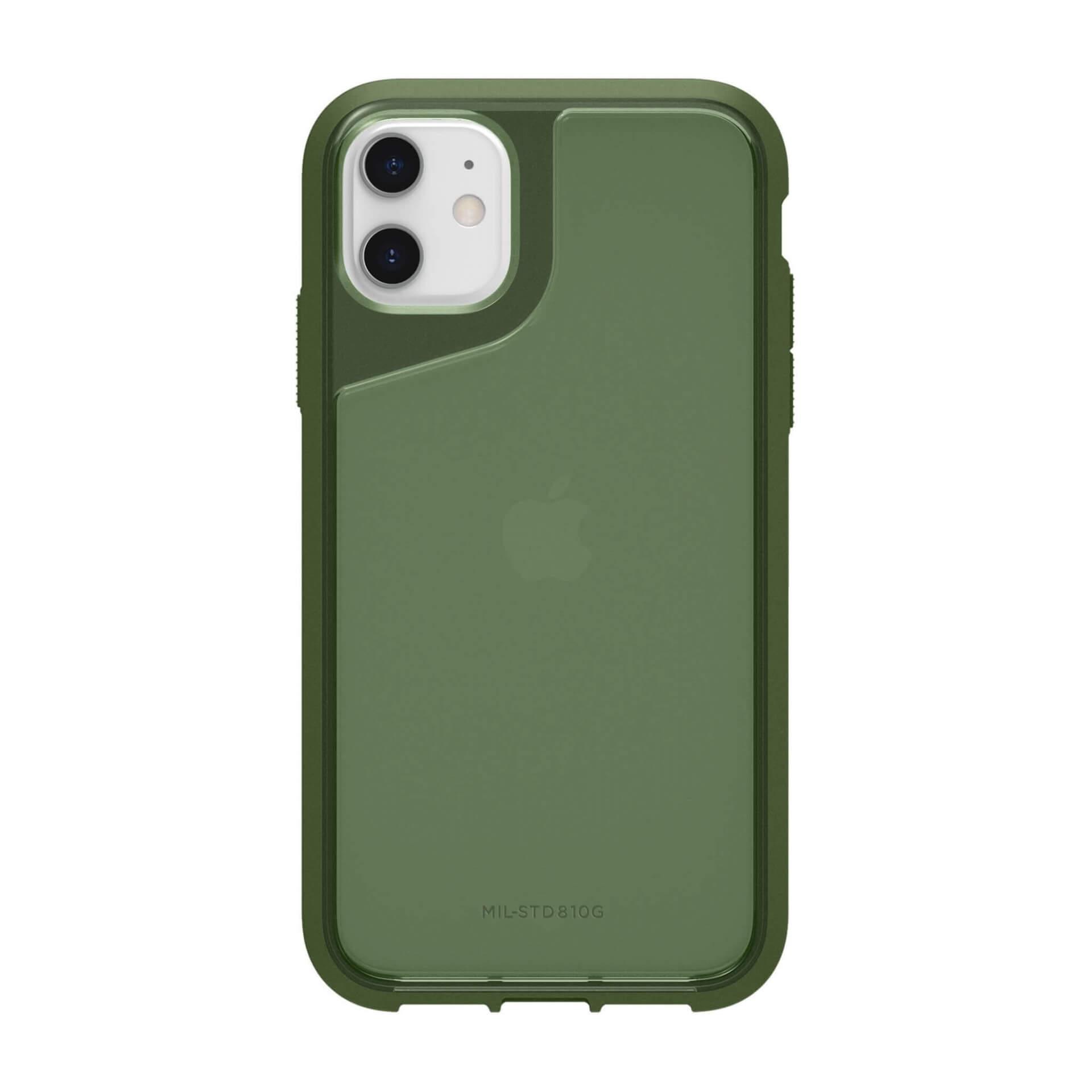 Griffin Survivor Strong — хибриден удароустойчив кейс за iPhone 11 (зелен) - 3